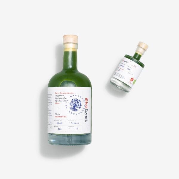 ØkoLyst gurkemeje spirulina og ingefær shot